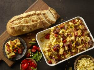 bacon corn strata