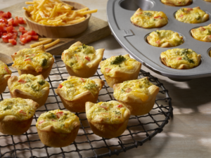broccoli cheddar quiche bites