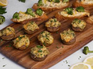 broccoli cheddar stuffed mushrooms