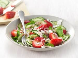 Cucumber Strawberry Salad