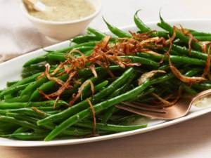 greenbeans with crispy shallot
