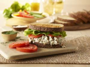 lemon herb chicken salad sandwich