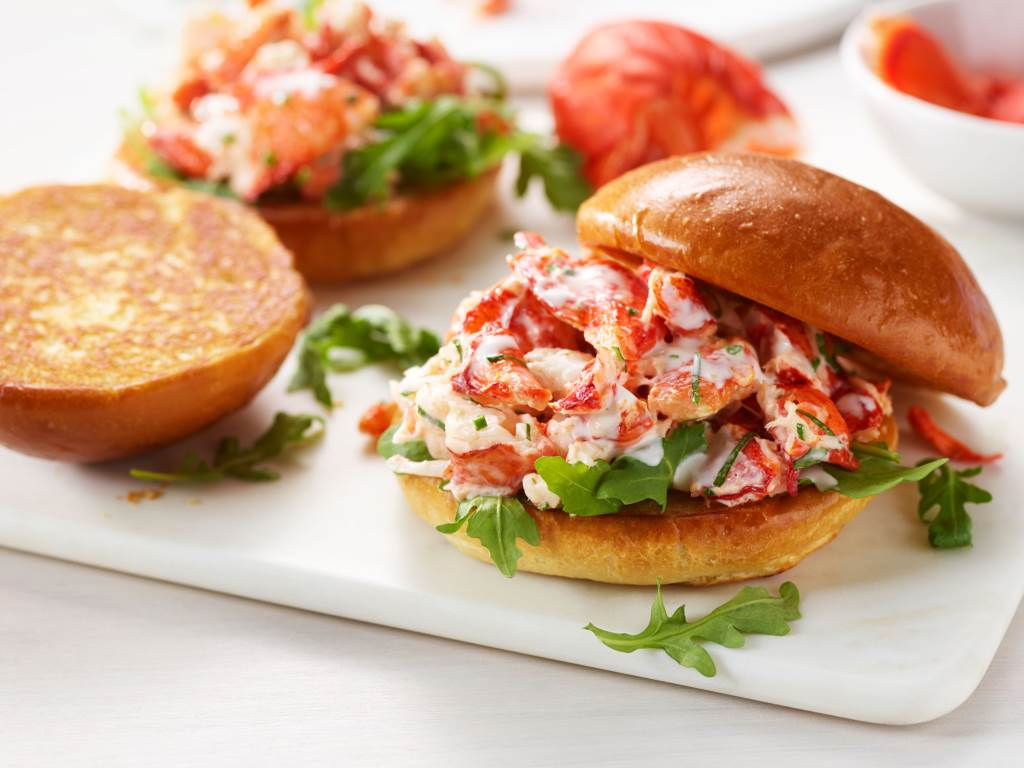 lemon herb lobster salad on brioche