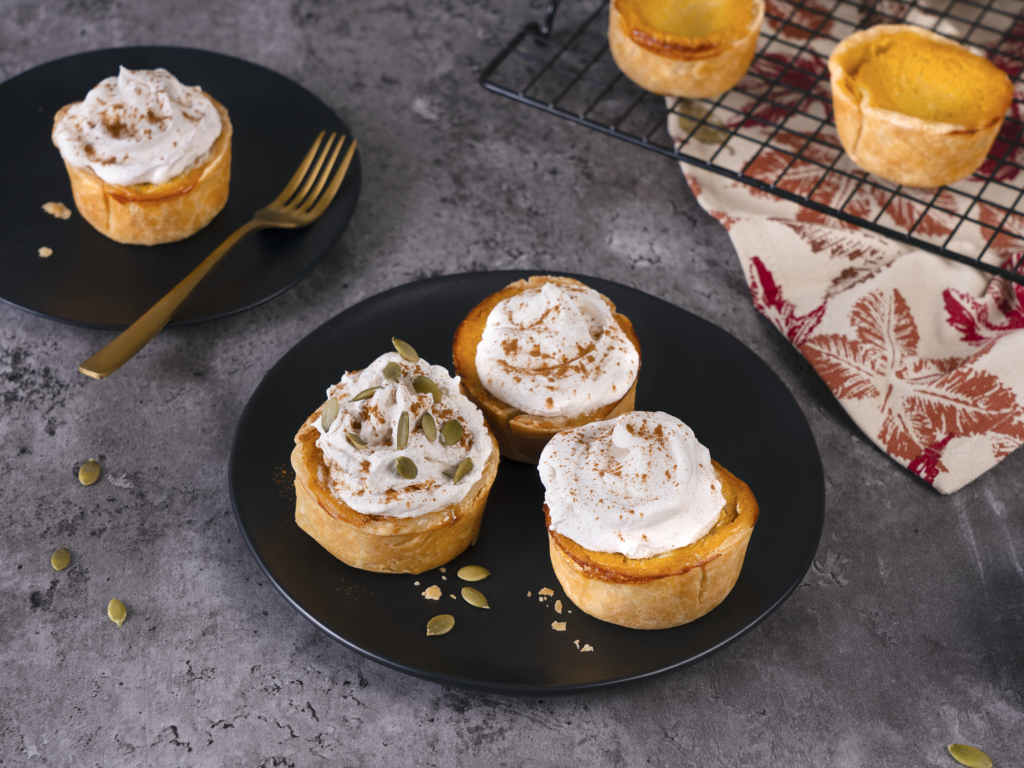 mini autumn squash pies