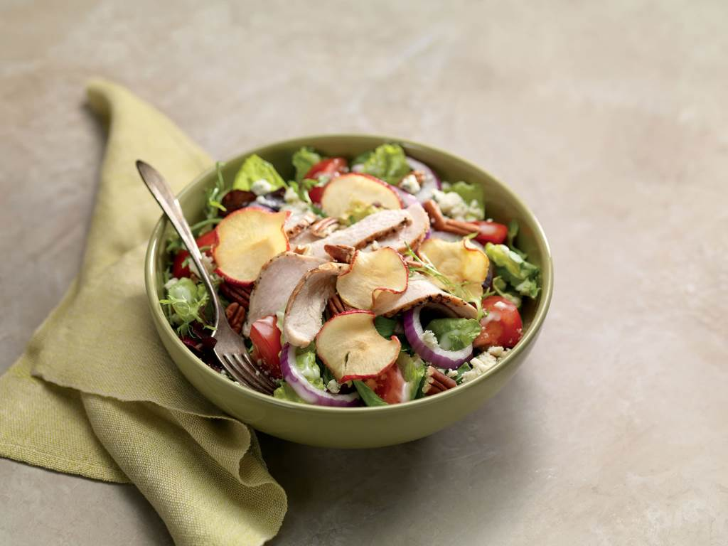 Fuji Apple Chicken Salad in a bowl