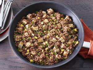 Sante Fe Chicken Quinoa Skillet in pan