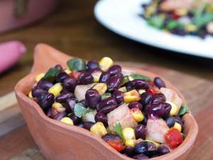 Southwest Black Bean Salad in bowl
