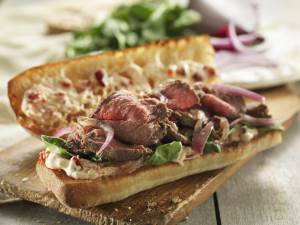 Steak Bistro Sandwich on a plate
