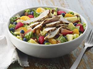 Strawberry Poppyseed Turkey Salad in a bowl
