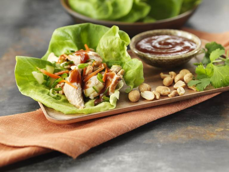 Thai BBQLettuce Wraps on plate