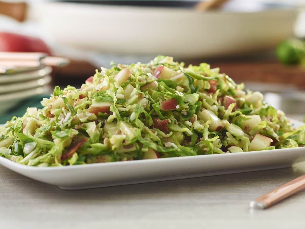 Warm Brussel Sprout Bulgar Salad