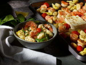 Baked Feta Gnocchi with Shrimp