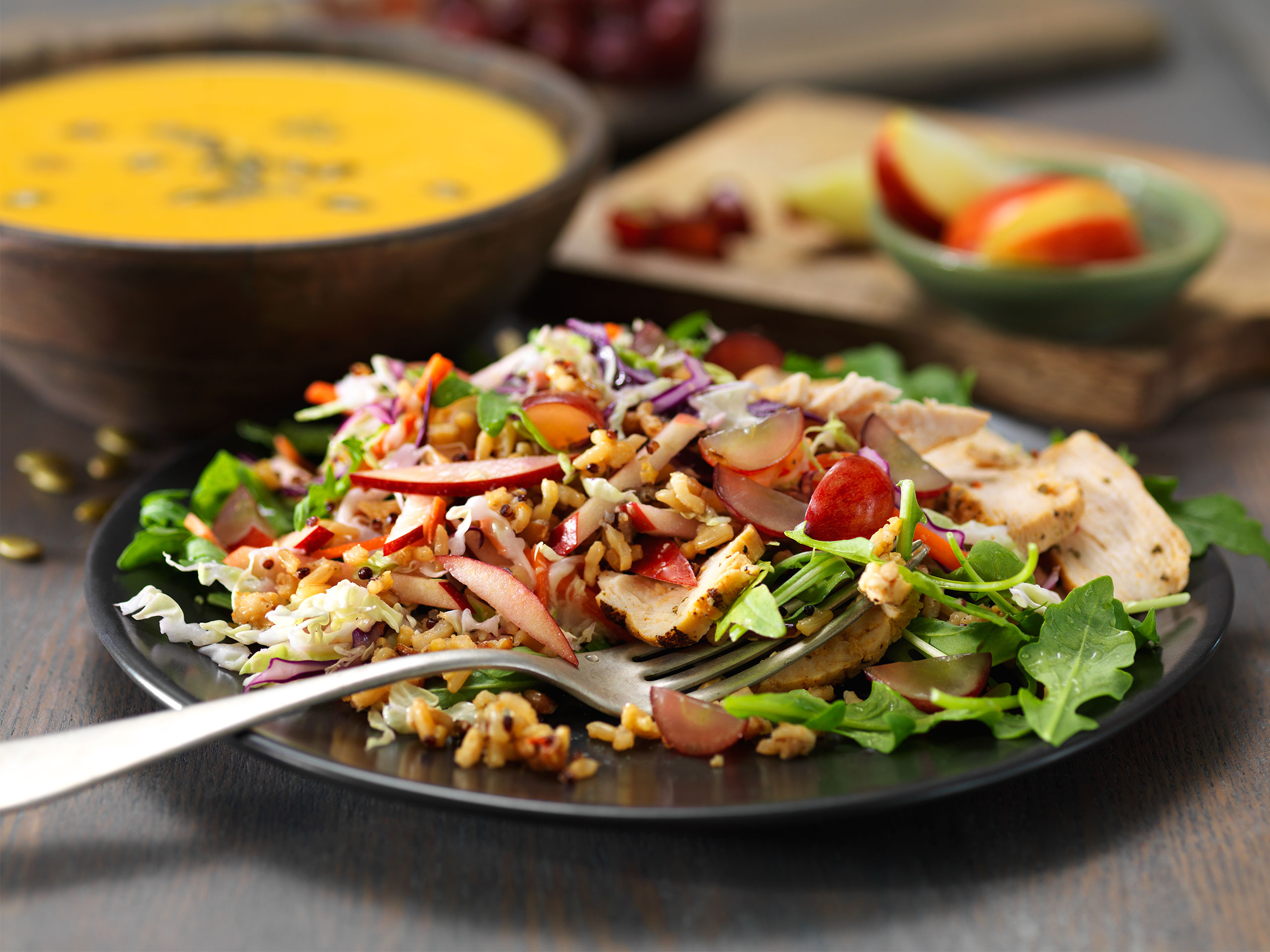 Ancient grain arugula salad with chicken panera at home forumfinder Image collections