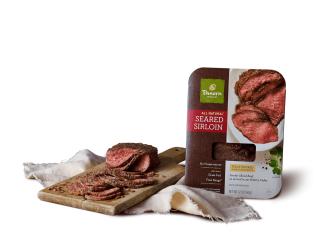 All-natural seared sirloin package